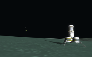 Kerbal Space Program - View from Minmus by misterxman
