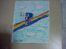 |_Sonic on the Rainbow_| by Silver-chan2000