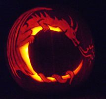 Dragon Jack-o-Lantern by Mokavu