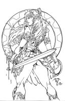 XENA Warrior Princess - PANT - Egli - Inks by SurfTiki