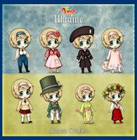 Hetalia 100 Guises: Canon Outfits part by AtreJane