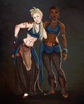 Awesome-ersauce Commission:Maiara and Maisa by Lavahanje