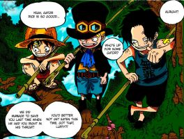 one piece 585 luffy,ace,sabo by shirohigevasto-lorde