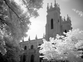 Infrared church by fourlizards