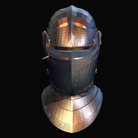Medieval Knights Helm Silver Stock by Tate27kh