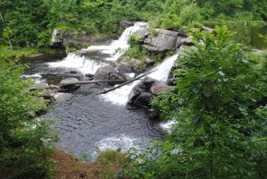 Pocono Waterfall by morbiusx33