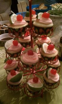 Cherry Limeade Cupcakes by willowdecree