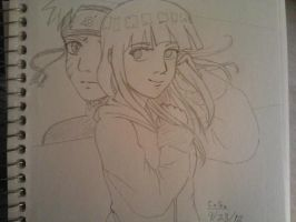 Sketches: Hinata and Naruto by Millie-Rose13