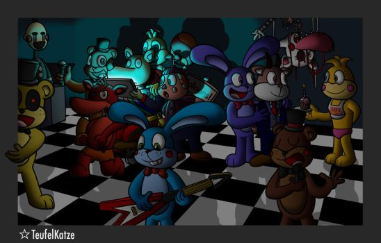 Kaiser and Karl with Five Nights at Freddy's by QuirkyArtie