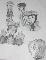 X-men Evolution Sketches by TickledGreen