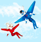 Derek the Latios and Layla the Latias by KendraTheShinyEevee