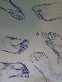 Experiment in pen:  feet from observation by Ercneps
