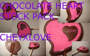 Chocolate Heart Stock Pack by cheyxlove