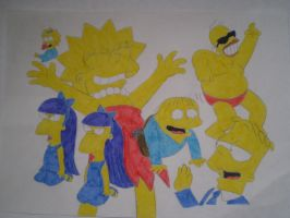Simpsons characters 2 by HeinousFlame