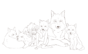 Wolfies Family by SNEEDHAM507