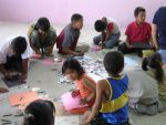 kids coloring in mexico by adderx99