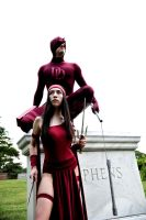 Elektra and Daredevil by surfingthevoiid