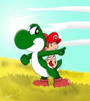 Yoshi's Island: There it is. by mariotime92
