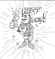 Sonic is finally 21 by Lotusbandicoot