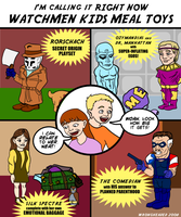 Watchmen Kids Meal Toys by wrongheaded