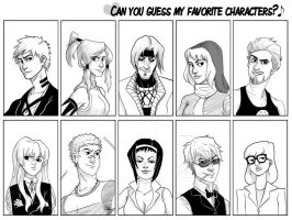 Can YOU Guess My Favorite Characters? by new-moon-night