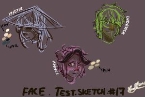 Face sketches  (test) by FluffCristal