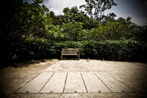 Empty Bench by bumariffin