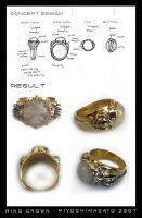 CLASSIC DESIGN CROWN RING by miyoshimasato