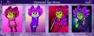 Character Age Meme: Lucid by SsKingdomsFury