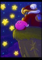 Kirby star gazing by Evanatt