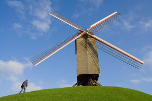 Me and windmill by Grzzz