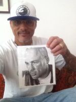 David Labrava with my Drawing - SONS OF ANARCHY by Doctor-Pencil