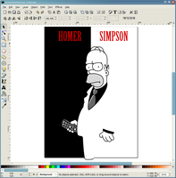 Inkscape - Homer Scarface by microUgly