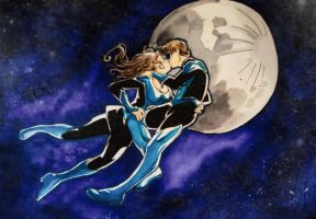 Two blues in the sky by LadyValiant