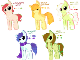 Sweet Pony Adoptable Batch #3 by Inky-Adopts