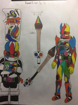 Kamen rider painter  by the-creature-of-art