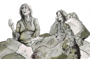 Bran, Summer and the old Nan GAME OF THRONES by MarcoCalosci
