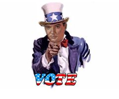 "Elvis says ""VOTE"" by kara314159"