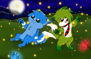 Look at the Fireflies 8D by JamKitsune
