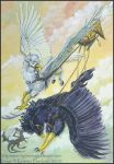 Gryphon Tarot: The Chariot by silvermoonnw