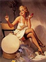 Pin Up Girl with Makeup 50's by xFashionMonsterx
