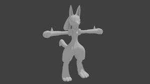 WIP 2.1 Lucario by PhiliChez