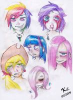 Violence faces by KzKsM