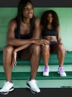 Venus and Serena sitting by lowerrider