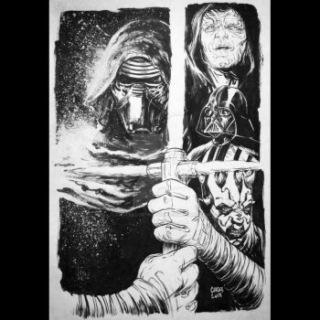 Star Wars - dark side by cucksillustration