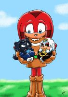 AT A Friend and Foe for Knux by ViralJP