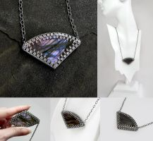 Purple Labradorite Necklace by Gweyeni