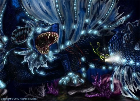 What Lurks in the Deep Blue by TheDragonofDoom