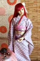 BJD kimono, Evening with the Tea by InarisansCrafts