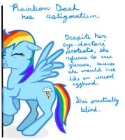 Visually impaired Rainbow Dash by verypen